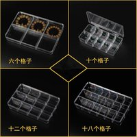 Wholesale Acrylic Portable Compartment Grids TEA PILL Jewelry Storage Box containers Holder Kit