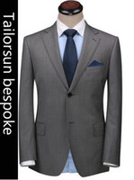100% wool suits - 2015 premium tailored wool bespoke suits for mens custom made Bestman s two button Wedding suits piece suits jakcet pants vest