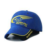 Wholesale Outdoor Men Subaru Racing Cap Cotton Snapbacks Sport Caps Baseball Caps Brand Car Visors Blue Hats