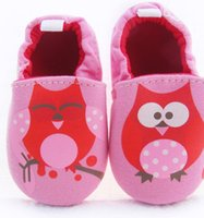 anchor shoes - Baby Shoes Soft Bottom Cloth Shoes Pink Owl anchors Animal printed Toddler Soft Soled Shoes pattern U pick color size Fedex DHL