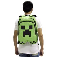 Wholesale Minecraft Shoulder Bag Backpack Schoolbag For Women And Men GAME Best Birthday Gift Mochila Feminina Good quality