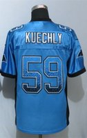 best drifting - Factory Outlet Luke Kuechly Drift Fashion Blue Elite Jersey Men Elite Football Jersey New Best Quality Embroidery Logo Size M XL