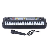 Wholesale 37 Keys Multifunctional Educational Electone Musical Toy Electronic Keyboard Music Toy with Microphone Gift for Children Kids DHL I1360