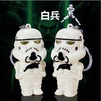 plastic pendant lights - Star wars Stormtrooper Keychains Accessories White soldier key chain ring LED Light Music sound keyring Creative flashlight Pendant hot