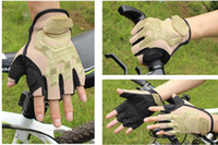 Wholesale super technicians generic version of outdoor tactical gloves half finger gloves U S Navy Seals Military