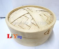 bamboo rice cooker - inch16cm Bamboo Steamer Basket Set free for Lid beige Rice Cooker Pasta fish Healthy cooking tools breakfast dishes container