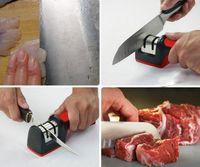 Wholesale HOT SALE Two Stages Diamond Ceramic Kitchen Knife Sharpener Sharpening Stone Household Knife Sharpener Kitchen Knives Tools free shippi