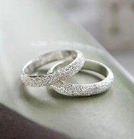 band convention - JZ179 Korean convention lifelong frosted lucky couple wild fashion simple ring