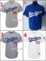 baseball chase utley - Customized Chase Utley Los Angeles Dodgers Blue White Gray Baseball Jersey Cheap Jerseys Authentic Stitched Size