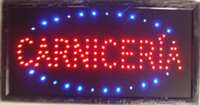 Wholesale Hot sale LED CARNICERIA neon sign light Plastic PVC frame Display inch semi outdoor
