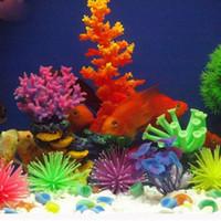 Wholesale Hot Silicone Fish Tank Decor Aquarium Artificial Coral Plant Underwater Ornament