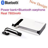bank headphones - New Wireless Bluetooth Headset Earphone Headphone with mAh power bank for iPhone Samsung Xiaomi Bluetooth stereo headset