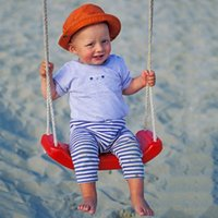 kids plastic chair - Child Swing Sports Equipment Outdoor Plastic Hanging Chair Household Indoor Baby Rocking Chair Toys VE0036 smileseller