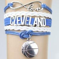 basketball team gifts - Top Quality Infinity Love Cleveland basketball Team Bracelet Customized Cavaliers Wristband friendship Bracelets