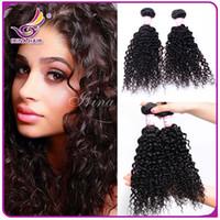 africa women - Beautiful A afro kinky curly hair for Africa Woman bundles Indian Peruvian Brazilian virgin curly hair extensions bohemian curl weave