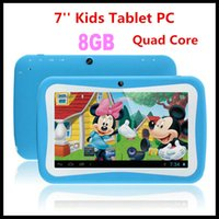 7 inch android tablet camera app - cheap inch Quad Core kids tablet pc RK3126 Kids pad Android Dual Camera GB ROM Educational Games App children birthday gift PB7 D3