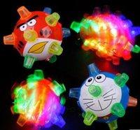 balls bouncing - Electric toys music luminous dance ball flashing bouncing ball crystal ball bouncing ball cartoon section