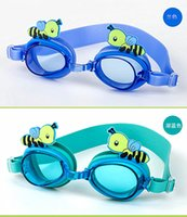Wholesale waterproof anti fog kids swimming goggles hot designer goggles for swimming fashion swimming glasses and Earplugs for children colors