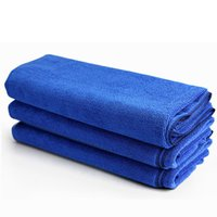 Wholesale Blue Soft cmx60cm Microfiber Car Cleaning Towel Polishing Scrubing Waxing Absorbent Towel Car Care Accessories
