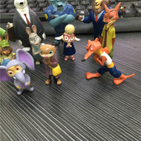 Wholesale Hot sall Movie Zootopia Pvc Action Figures Toy Set Animal dolls children kids toys gifts Anime toy juguetes BK036A