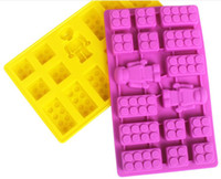 silicone soap molds - 12 For Lego Lover Silicone brick Robot ICE Cube Chocolate Cake Soap Mold Molds