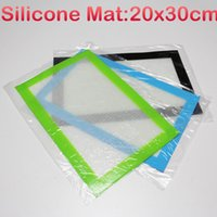 Wholesale x30cm dabber sheets bho concentrates wax non stick pad silicone mats wax cutting sheet silicone fiberglass baking mat pastry