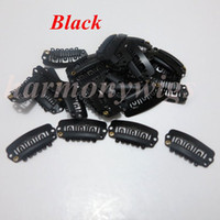 Wholesale Hair extension clips Snap clips cm teeth stainless steel for hair extensions wig weft weaves colors