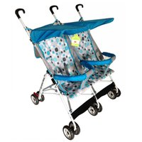 baby stroller for double twins - Baby Stroller for Twins Double Seats Lightweight Stroller Folding Twin Stroller Baby Carriage Prams JN0036