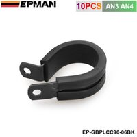 hose clip - 10PCS x AN3 AN4 mm I D BLUE BLACK Aluminium Rubber Lined Cushioned P Clamp Clip EP GBPLCC90