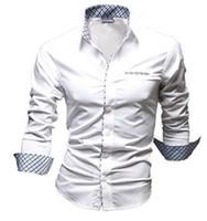 Wholesale shirt men shirt fashion In the spring and autumn shirts men mens dress shirt french cuff hot men shirt slim fit
