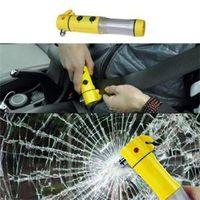 Wholesale 2014 New HE DElicate Multifuction Car AUTO Emergency Life Saving Hammer Belt Cutter Flashlight Emergency Hammer EH