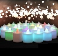 Wholesale One Piece Polypropylene Plastic Fliker Flameless LED Candle Night Light For Wedding Party Holiday Decoration CY34