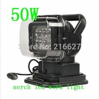 Wholesale super bright xenon white ROTATING W CREE LED SEARCH LIGHT REMOTE CONTROL SPOT WORKING HUNTING BOAT