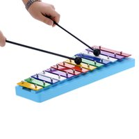 baby xylophone - 13 Bar Kid s Glockenspiel Xylophone Colorful Note of Educational Percussion Instrument Rhythm Toy for Baby Toddler Children I1175