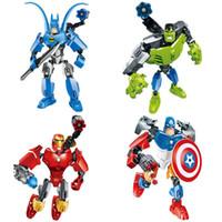 batman vehicles toys - The Avengers color Captain America Iron Man Batman Hulk Building Blocks New Superhero Movie DIY Bricks Toys B