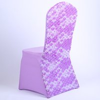 purple chair covers - High Quality Purple Spandex Chair Covers New Design With Sash Decoration Chair Cover For Wedding Party