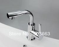 bathroom vanity brands - Brand New Chrome Finish Single Hole Bathroom Basin Sink Faucet Mixer Tap Vanity Faucet L Mixer Tap Faucet