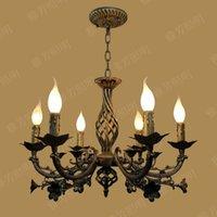 avon - Avon restaurant lights fashion brief vintage wronght rion candle pendant light black home decorative light fixture