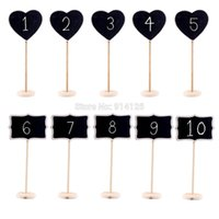 Wholesale Mini Chalkboard Blackboards On Stick Stand Place Holder Shabby Chic for wedding buffet and food signage labels place settings