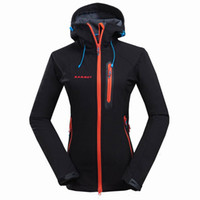 Wholesale Brand soft shell women jacket sports outdoor waterproof windproof camping hiking hunting biking autumn winter fleece hoody jacket S XXL