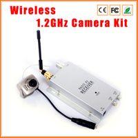 Wholesale Wireless CCTV Camera Kit Home Security System CMOS TVL LED IR Wireles Mini Camera GHz Wireless Receiver