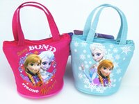 best handbag wholesale - Newest Frozen Girls Wllet Purse Elsa Anna Printed Cosmetic Bag Girls Coin Purse Best Christmas Gift For Girls Children Mini HandBags