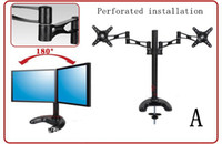 Wholesale Dual Monitor Stand Desktop Computer Monitor Desktop Stand Bracket inch LCD Monitor Stand Rotatable Adjustable Monitor Holder Mounting