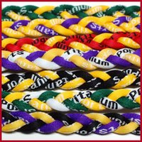 Wholesale Germanium titanium ropes necklace tornado braided SPORTS football baseball new tornado pendant healthy Fashion body jewelry