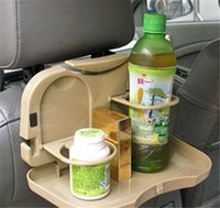 Wholesale Universal Multi functional Foldable Car Chair Dining Table Drink Cup Holder