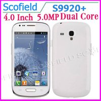 Cheap Wholesale - 4.0 INCH S9920 I8190 S4 Mini SIII MINI MTK6572W Android Cell Phone Dual Core Smart Phone 4G ROM 5.0MP Camera GPS BlueTooth Andro