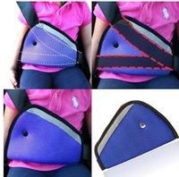 Wholesale 2015 colors car Safe Fit Seat Belt Adjuster car safety belt adjust device baby child protector positioner Breathable R00994