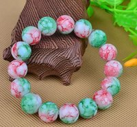 Wholesale Rainbow Beads Bracelet pulseras mujer Agate Glass beads bracelet elastic charm bracelet natural Crystal chain for men and women jewelry