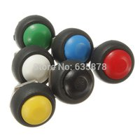 Wholesale Car Auto Momentary OFF ON Push Round Button Horn Switch Multi Color Vehicle