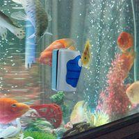 algae free - New Arrivals Magnetic Brush Aquarium Fish Tank Glass Algae Scraper Cleaner Plastic And High Magnet Material C314